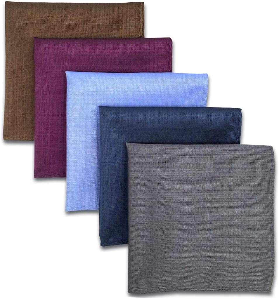 SHLAXWING 5 Pieces Assorted Mens Pocket Square Silk High material Milwaukee Mall Handkerchie