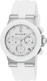 Bvlgari Watch Diagono Automatic Chronograph Diamond Dg37wscvdch / 8