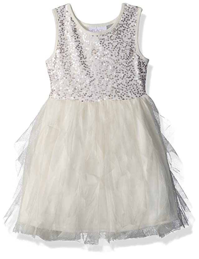 The Children's Place Big Girls' Sequin and Mesh Dress rxtlysfo02041783