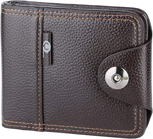 PU Leather Brown Wallet Purse For Men Stylish