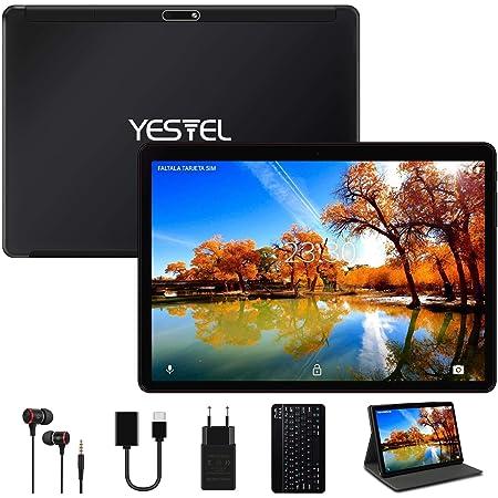 YESTEL Tablet 10 Pulgadas Android 10.0 Tablet PC con 4GB RAM 64GB ROM + Expandido 128GB Quad Core Let Dual SIM 8000mAh con Teclado-Negro