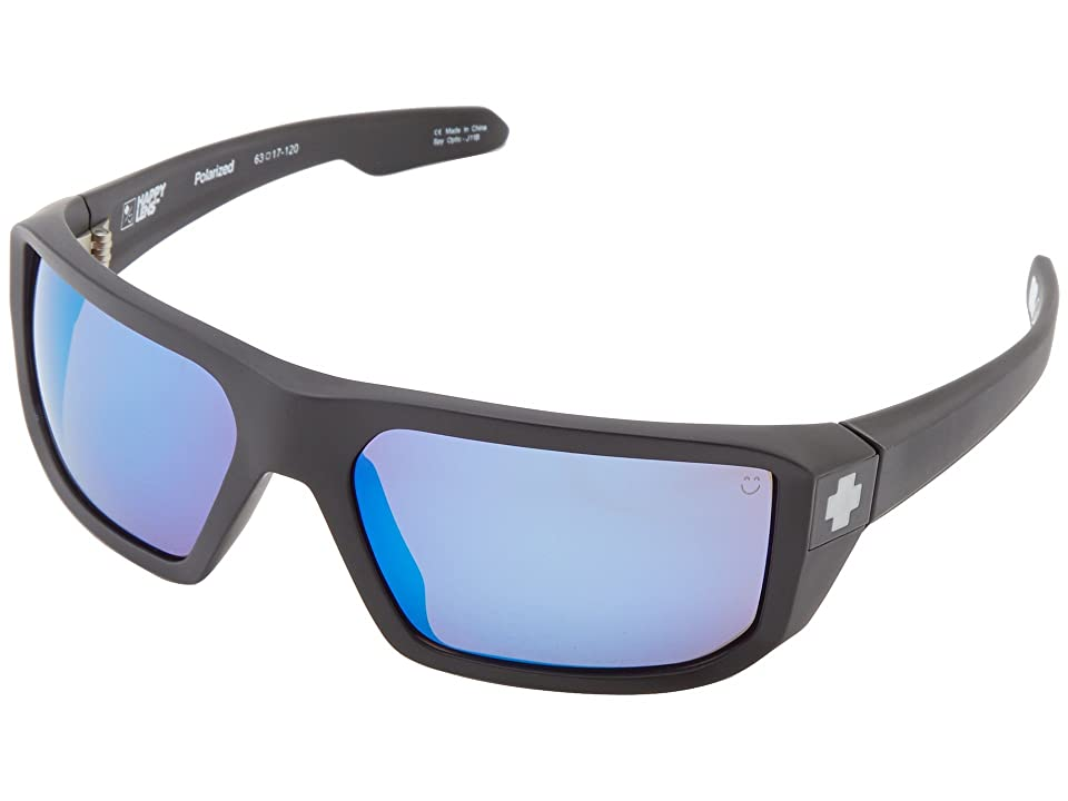 Spy Optic McCoy (Matte Black/Happy Bronze Polar w/ Blue Spectra) Sport Sunglasses