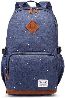 Kaukko Rucksack Damen Herren Schicker und Praktisch Rucksack für Schule, Uni, mit Laptopfach & Anti Diebstahl Tasche für den Alltag, 11.8 5.2 17.7/ 17.6L Blau