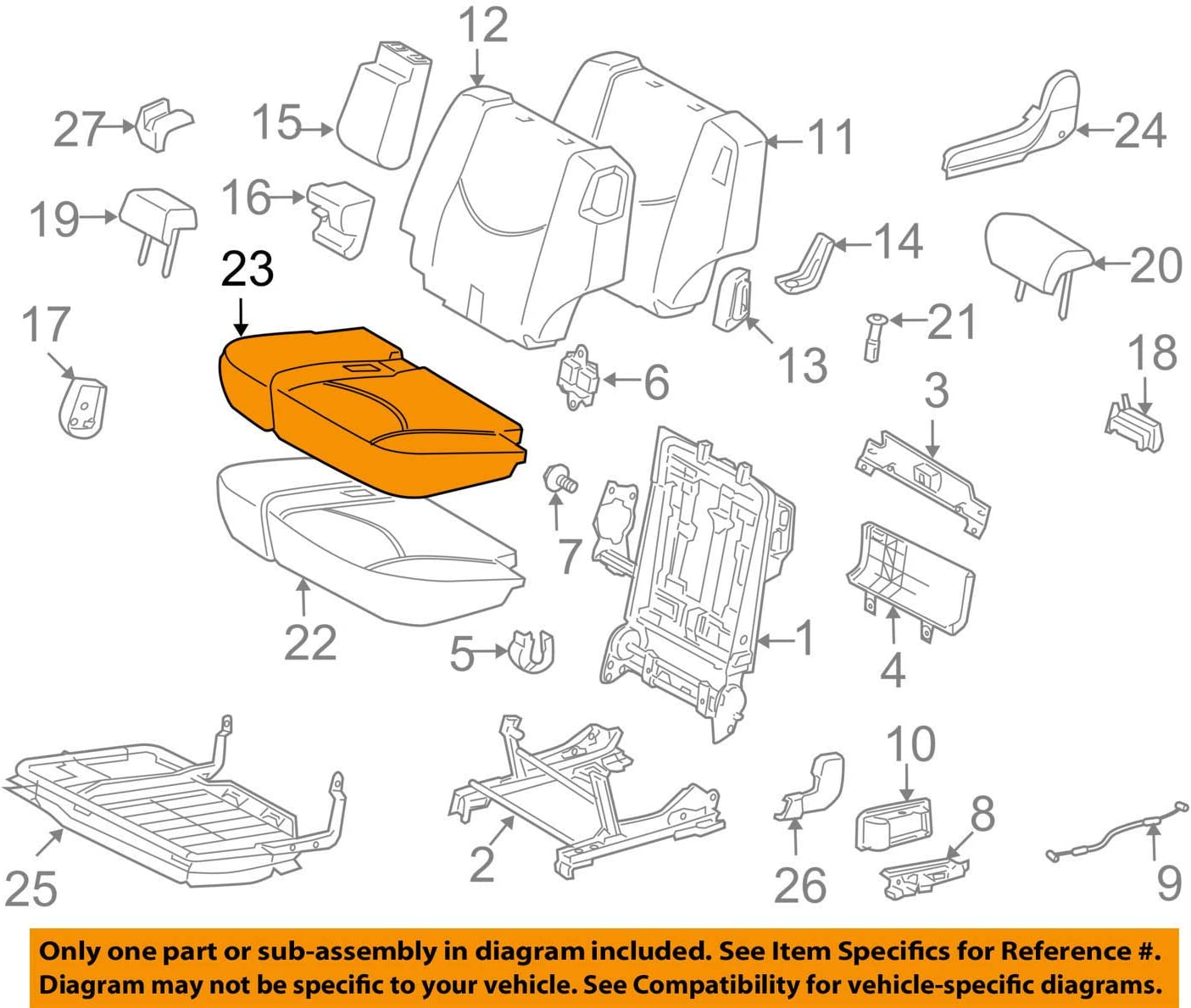 Ranking TOP20 TOYOTA Genuine 71076-42404-B5 Seat Low price Cover Cushion