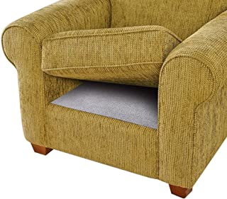 BLS Cushion Non-Slip Underlay, Non Slip Grip Pad Keep Sofa Couch Cushions from Sliding or Slipping, Stop Mat, Futon, from Moving, Double-Side Anti-Slip Material + Felt in The Middle (3 Pack)
