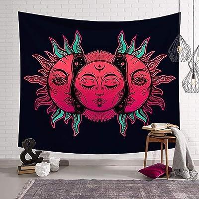 Pared de Arte Impresión Digital Tapiz Bohemio Indio Mandala Hippie Tapicería Cubierta de Cama Mantel Picnic Playa de Tela (Color : A, Size : 95x73cm)