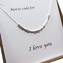 love in morse code necklace