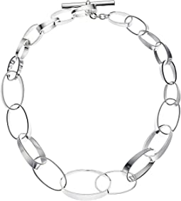 "LAUREN Ralph Lauren Modern Metal 18"" Graduated Link Collar Necklace"