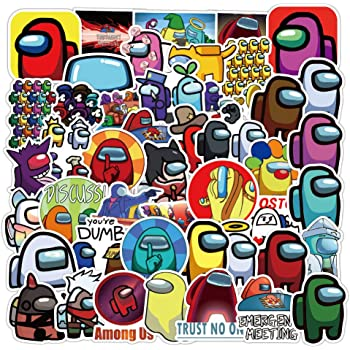 Vinyl Waterproof Stickers for Laptop,Bumper,Water Bottles,Computer,Phone,Hard hat,Car Stickers and Decals Among Us Stickers(100 Pcs) Popular Game Sticker Decals