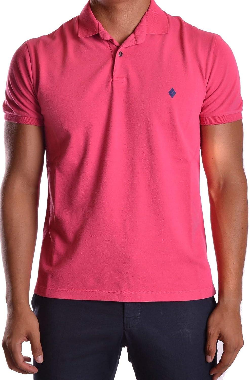 BALLANTYNE Men's MCBI19453 Pink Cotton Polo Shirt