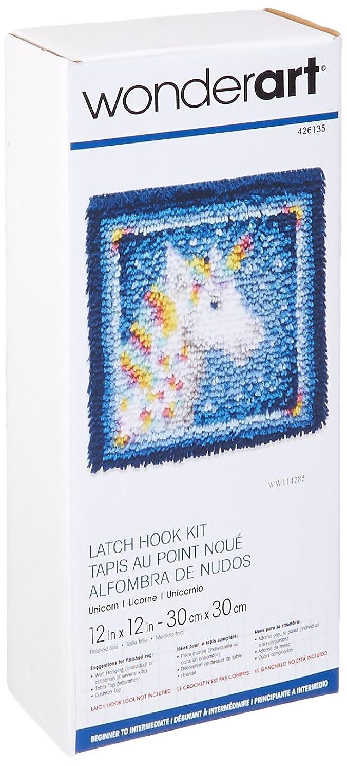 Wonderart Latch-Hook Kit, Unicorn, 12