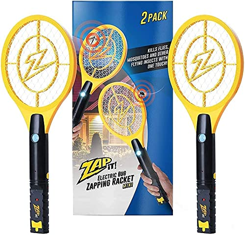 high quality Zap high quality It Bug Zapper Rechargeable Bug Zapper Racket, outlet sale 4,000 Volt, USB Charging Cable, 2 Pack outlet sale