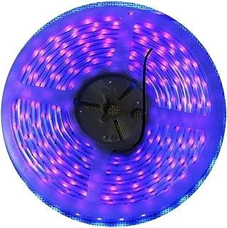Super Waterproof 12V Black Lights UV Strip LED Blacklight Fixture, AMARS 5M/16.4FT 300 LED Purple Lighting for Boat, Outdoor, Night Fishing, Fluorescent (Strip Only)