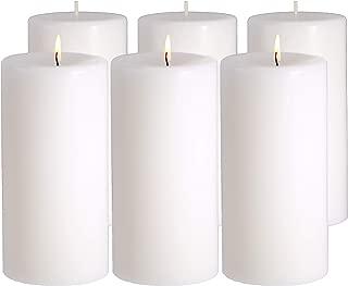 CandleNScent White Pillar Candles Unscented - 3