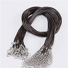 Jewelry rope 10 stks/partij fauxs lederen handgemaakte verstelbare gevlochten touw kettingen & hanger bedels bevindingen L...