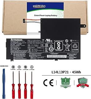 INDMIRD L14L3P21/L14M3P21 Laptop Battery OEM Compatible with Lenovo Flex 3 Flex 4 1470 1480 1570 1580 Edge 2-1580 Ideapad 300S 310S New Replacement Series L14M2P21 L14L2P21[11.1V 45Wh/4050mAh]