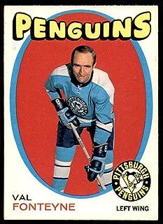 1971-72 O-Pee-Chee #189 Val Fonteyne Excellent+ Penguins