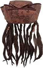 Caribbean Jack Sparrow Fancy Dress Hat With Hair & Beads (peluca)