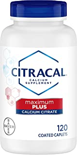 Citracal Maximum Plus D3 Calcium Citrate, 120 Count (Pack of 2)