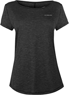 LA Gear Womens Fitted T Shirt Short Sleeve Performance Tee Top Crew Neck