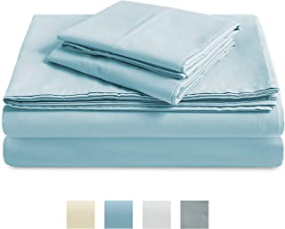 TRIDENT 300 Thread Count Sheet Set, 100% Cotton, Percale...