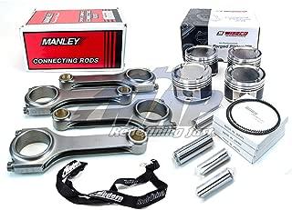 Wiseco HD Pistons Manley 625+ Turbo Tuff Rods 86mm 9.2:1 CR for 2008-15 Mitsubishi Evo X 4B11