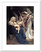 9x7 '' BOUGUEREAU SONG OF ANGELS OLD MASTER PAINTING FRAMED ART PRINT F97X1925