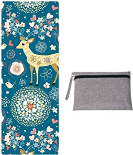 WeYingLe Yoga Mat Towel Non Slip Suede Luxurious Foldable Mat Hot Yoga Towel,Sweat Absorbent, for Hot Yoga, Bikram, Pilate...