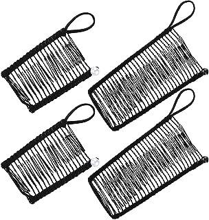 DELFINO Banana Hair Clips Clincher Comb Banana Hair Grip Catch Clamp No Crease Hair Clips for Natural Curly Thick Wavy Hai...