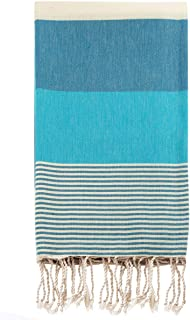 Swan Comfort 100% Natural Turkish Cotton Absorbent Beach Towel, Easy Care Ideal for Bath Spa Fitness Yoga Pool Yatch Swimwear Guest Gym - Blue - Light Blue