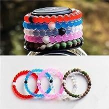Infinity Silicon Elastic Beads Artificial Designer Kada Friend Ship Band Bracelet ( ONE Random Color )