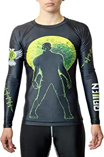 Raven Fightwear Women's BJJ Horror Frankenstein's Monster Rash Guard MMA Black