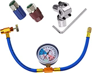 BPV31 Piercing Valve for Bullet with R134a Charging Hose and R12 to R134a Conversion Kit,Low/High Side Retrofit Kit