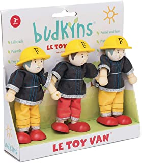 3-pack Budkins brandmansset bigepuppfamilj för dockhus