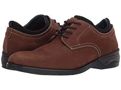 Johnston & Murphy Waterproof XC4(r) Elkins Casual Plain Toe Oxford (Brown Tumbled Nubuck) Men