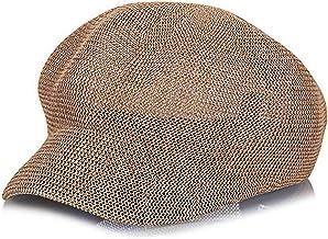 JNKET Women's Straw Hat Breathable Octagonal Cap 8-Panel Newsboy Cap Summer Visor Berets Hat