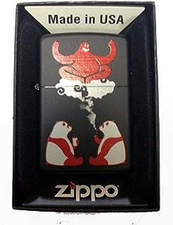 Zippo Custom Lighter - Cute Hallucinating Weed Smoking & Drinking Panda Bears w/ Magical Red Genie Black Matte Rare!
