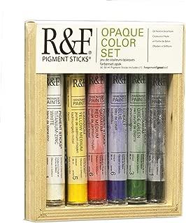 R&F Handmade Paints 38ml Oil Pigment Stick Set Opaque Colors, Set of 6