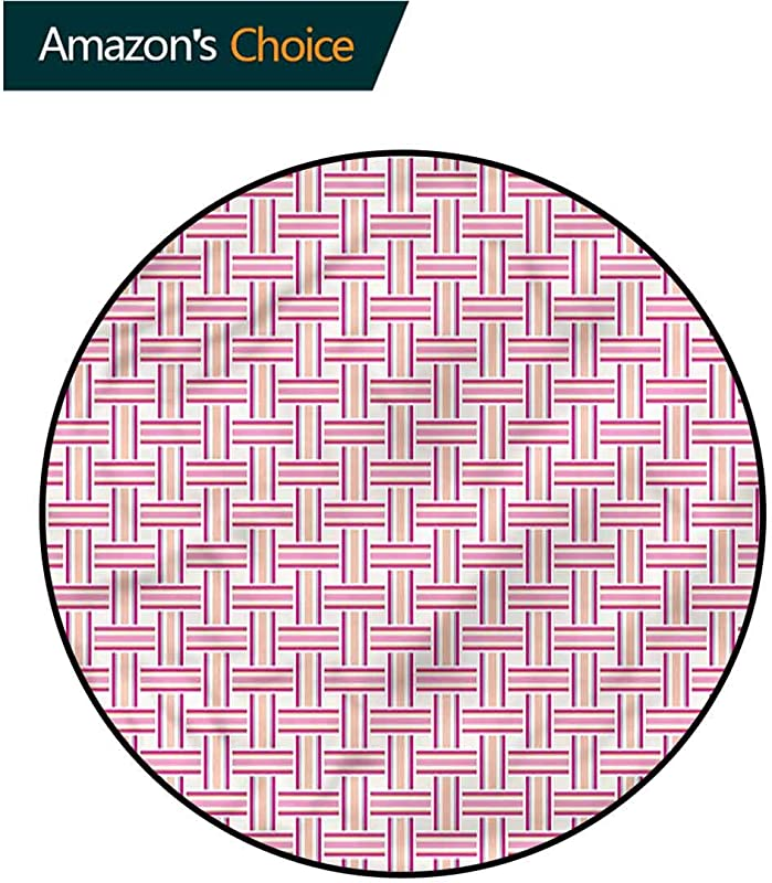 Geometric Modern Vintage Rugs Crossed Bold Lines Non Slip Living Room Soft Floor Mat Diameter 47