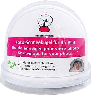 - Schneekugelhaus - 50000. Bola grande de cristal transparente non nieve artificial en la que se pueden introducir fotos desde la base