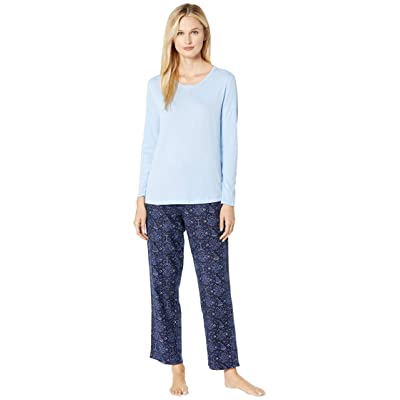 Nautica Cotton Flannel Pajama Set (Nautical Stitching) Women
