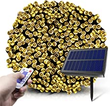 Zonne-kerstverlichting, 20 meter 200 LED 8 modi zonne-kerstverlichting met afstandsbediening, waterdichte ster-kerstverlic...