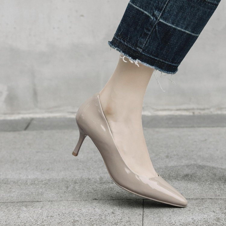 SED Sexy Spitz Flach Mund mit Frauen Singles Wilde Vier Jahreszeiten Arbeiten Schuhe High Heels B07FRTMTR9  Angenehmes Gefühl