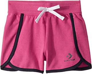 Converse Kids Girl's Star Chevron Track Shorts (Little Kids) - Pink - 6X