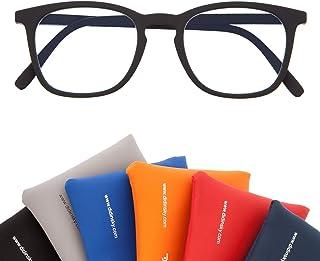 Gafas de Presbicia con Filtro Anti Luz Azul para Ordenador. Gafas Graduadas de Lectura para Hombre y Mujer con Cristales Anti-reflejantes. 6 colores y 6 graduaciones – TATE