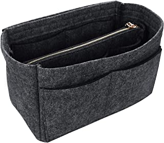 Jiyaru Felt Insert Bag for Tote Handbag Purse Organizer Bag in Bag Multi Pockets