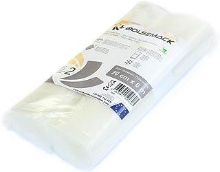 Rollo gofrado de envasado al vacío (20cm x 6 metros) (2 uds.) para Todo Tipo de envasadora doméstica, Foodsaver, Lacor, Caso, Silvercrest, etc.