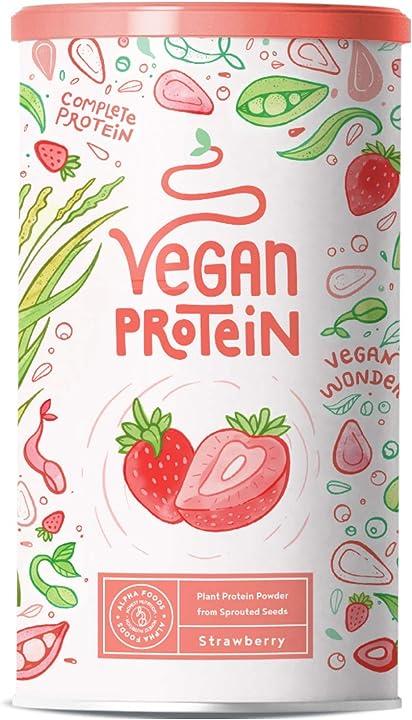 Proteine vegane - fragola alpha foods 600 gr AF-121