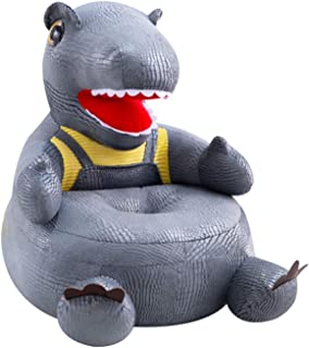 Bueuwe Chaise Enfant | Fauteuil | Siège de canapé | Tabouret pour Les Enfants | Meubles pour Enfants | Dinosaure |,Gris
