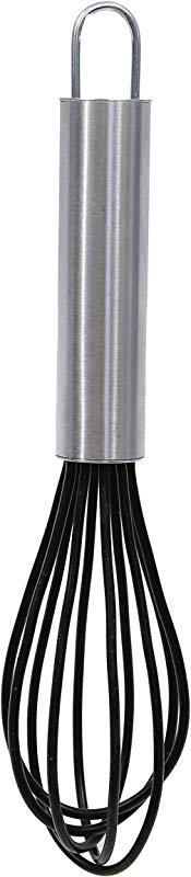 Tablecraft Mini Silicone Whisk With Stainless Steel Handle HMIN1 Silver